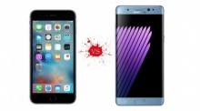 ไอโฟน 7 VS ซัมซุง โน้ต 7 แลกกันแบบหมัดต่อหมัด!
