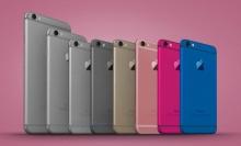 หลุดภาพเรนเดอร์ iPhone 6C พร้อม 2 สี ชมพูและฟ้า