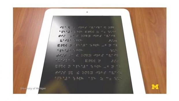 แท็บเล็ตสุดล้ำ หน้าจอสามารถนูนขึ้นแสดงผลเป็นอักษรเบรลล์ได้